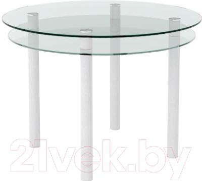 Обеденный стол Artglass Ringo Tale (белый)