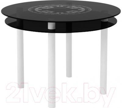 Обеденный стол Artglass Ringo Tale Круг (серый/белый)