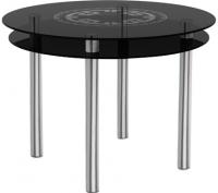 Обеденный стол Artglass Ringo Tale Круг (серый/хром) -