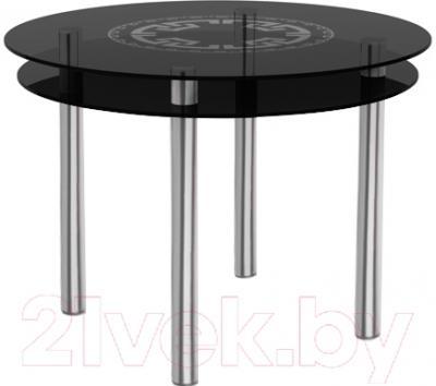 Обеденный стол Artglass Ringo Tale Круг (серый/хром)