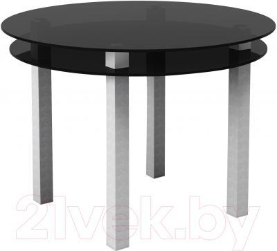Обеденный стол Artglass Ringo Cristal (серый)