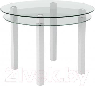Обеденный стол Artglass Ringo Cristal (белый)