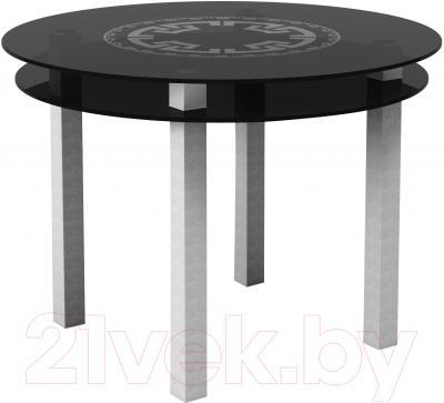 Обеденный стол Artglass Ringo Cristal Круг (серый)