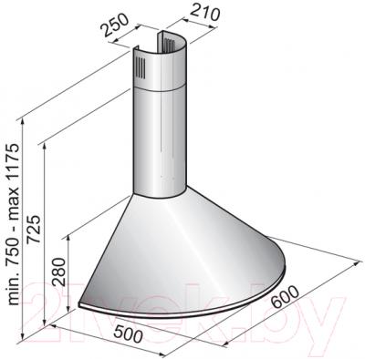 Вытяжка купольная Korting KHC6930X