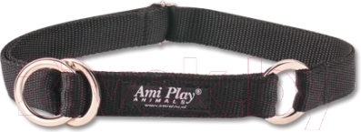 Ошейник-полуудавка Ami Play Reflective AMI106 (L, черный)