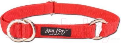 Ошейник-полуудавка Ami Play Reflective AMI108 (M, красный)