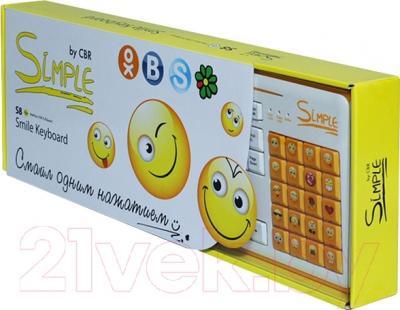 Клавиатура CBR Simple S8 (белый)