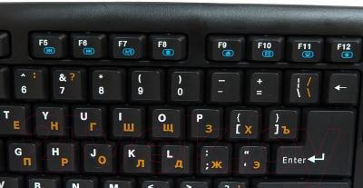 Клавиатура Dialog KM-025U (черный/синий)