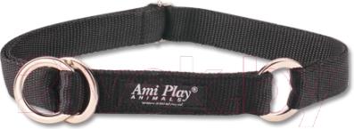 Ошейник-полуудавка Ami Play Reflective AMI107 (XL, черный)
