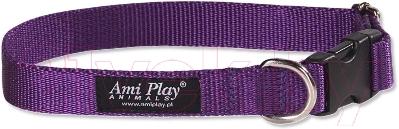 Ошейник Ami Play Basic AMI152 (XL, фиолетовый)