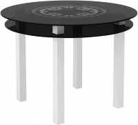 Обеденный стол Artglass Ringo Cristal Круг (серый/белый) -