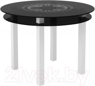 Обеденный стол Artglass Ringo Cristal Круг (серый/белый)