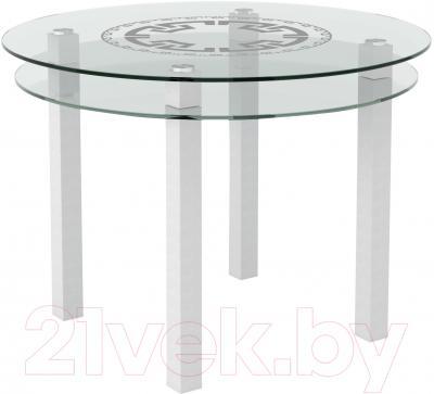 Обеденный стол Artglass Ringo Cristal Круг (белый)