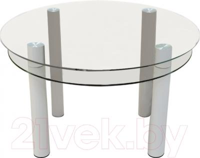 Обеденный стол Artglass Орхидея (белый)