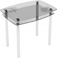 Обеденный стол Artglass Comfort Pole Завитки (хром) -
