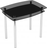 Обеденный стол Artglass Comfort Pole (серый/хром) -