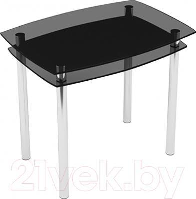 Обеденный стол Artglass Comfort Pole (серый/хром)