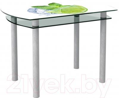 Обеденный стол Artglass Октава Лайм