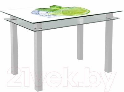 Обеденный стол Artglass Кристалл Лайм