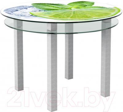 Обеденный стол Artglass Ringo Cristal Лайм