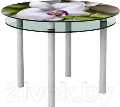 Обеденный стол Artglass Ringo Tale Орхидея белая