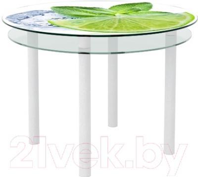 Обеденный стол Artglass Ringo Tale Лайм (белый)