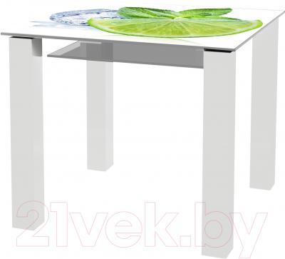 Обеденный стол Artglass Palermo 90 Лайм (белый)
