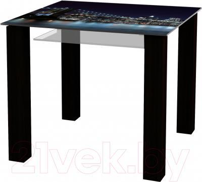 Обеденный стол Artglass Palermo 90 Ночной город (черный)