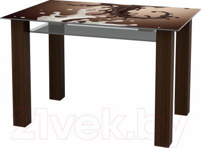 Обеденный стол Artglass Palermo 120 Шоколад
