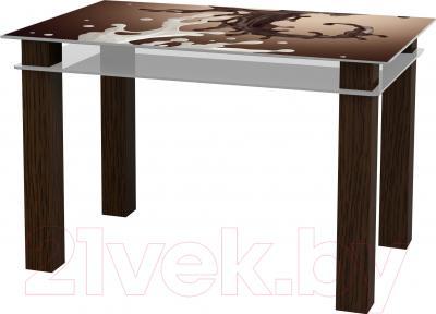 Обеденный стол Artglass Tandem 120 Шоколад