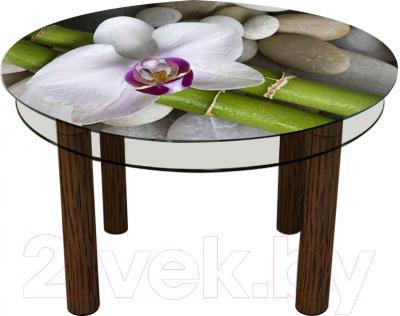 Обеденный стол Artglass Орхидея Орхидея белая