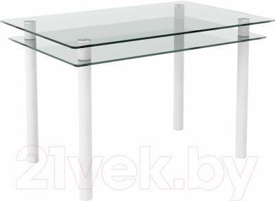 Обеденный стол Artglass Бриз (белый)