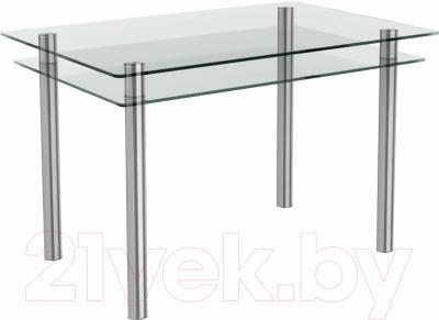 Обеденный стол Artglass Бриз (хром)