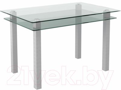 Обеденный стол Artglass Прима (серый)