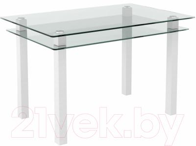 Обеденный стол Artglass Прима (белый)