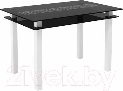 Обеденный стол Artglass Прима Меандр (серый/белый)