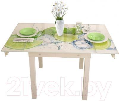Обеденный стол Artglass Modus Лайм (белый)