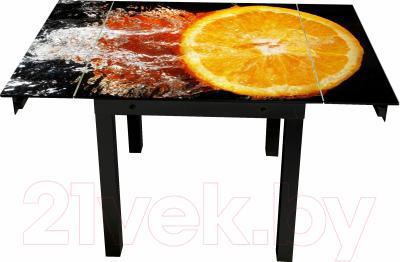 Обеденный стол Artglass Modus Апельсин (черный)