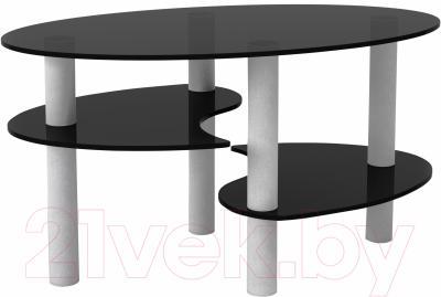 Журнальный столик Artglass Каскад (серый)