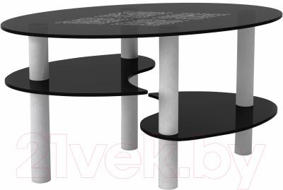Журнальный столик Artglass Каскад Ромб (серый)