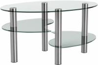 Журнальный столик Artglass Каскад (хром) -