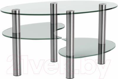 Журнальный столик Artglass Каскад (хром)