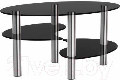 Журнальный столик Artglass Каскад (серый/хром)