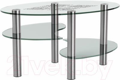 Журнальный столик Artglass Каскад Ромб (хром)