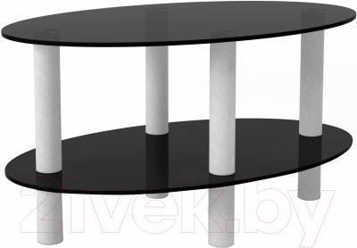 Журнальный столик Artglass Вальс (серый)