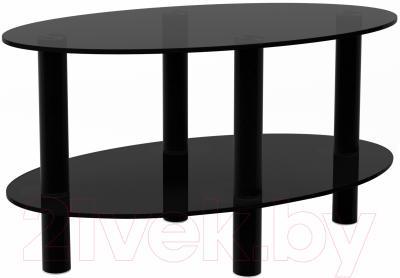 Журнальный столик Artglass Вальс (серый/черный)