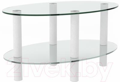 Журнальный столик Artglass Вальс (белый)