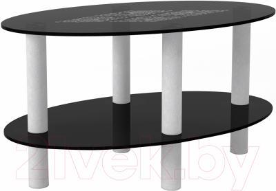 Журнальный столик Artglass Вальс Ромб (серый)