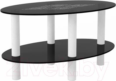 Журнальный столик Artglass Вальс Ромб (серый/белый)