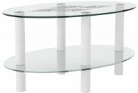 Журнальный столик Artglass Вальс Ромб (белый) -